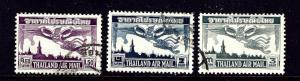 Thailand C20-22 Used 1952-53 set