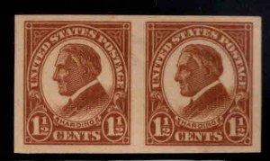 USA  Scott 576 Imperforate Harding pair MH*