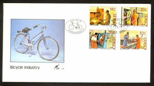 CISKEI SOUTH AFRICA 1986 BICYCLE FACTORY Set on U/A Cachet FDC Sc 94-97