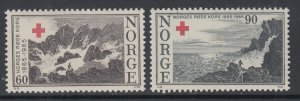 Norway 473-474 Red Cross MNH VF