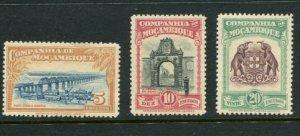Mozambique Company #191-3 High Values of Set Mint
