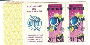 Burundi, 126-33, Space, Margin Pairs with Labels, MNH