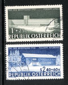 Austria 1957  Scott #B299-300 used (CV 4.20)