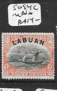 LABUAN (P0204B)  8C BOAT SG 94C  MNH