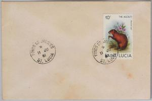 ST LUCIA -  POSTAL HISTORY - COVER with nice postmark: FONDS ST JACQUES 1981