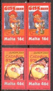 Malta Sc# 1123-1124 MNH Pair 2003 Europa