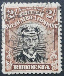 Rhodesia Admiral Die IIIB Two Shillings SG 273 used