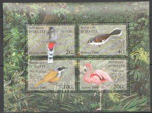 PK117 1999 D'HAITI FAUNA BIRDS KB MNH STAMPS