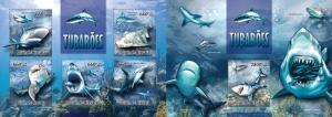 Z08 GB13312ab Guinea Bissau 2013 Sharks SET Postfrisch ** MNH