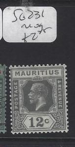 MAURITIUS   (PP0710B)  KGV  12C  SG 231   MOG