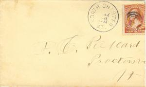 United States Vermont North Chester 1885 target  1849-1903  2c Washington Ban...