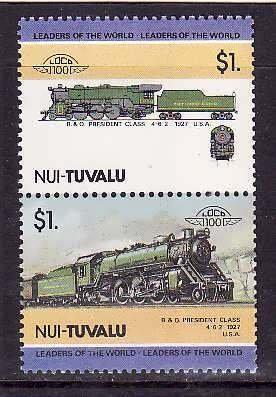 Nui-Tuvalu-Sc#22- id6-unused NH Trains-Locomotives-1984-8-
