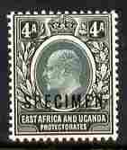 Kenya, Uganda & Tanganyika 1903-04 KE7 Crown CA 4a overpr...