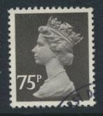 GB Machin 75p  SG X1023  Scott MH162 Used with FDC cancel  please read details