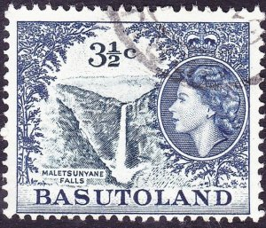 BASUTOLAND 1962 QEII 3½C Indigo & Deep Ultramarine SG73 FU
