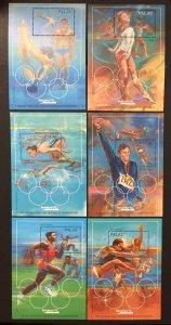 Palau 1992 #304-9 S/S, Olympics, MNH.
