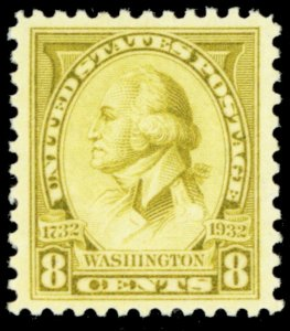 713, Mint Superb NH 8¢ GEM Stamp! - Stuart Katz