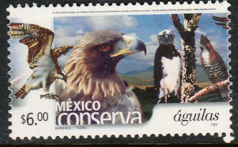 MEXICO CONSERVA 2263, $6P EAGLES. MINT, NH. VF.