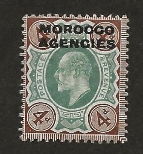 GREAT BRITAIN OFFICES - MOROCCO SC# 204   F/MOG 1907