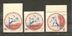 DOMINICAN REPUBLIC STAMPS MNH/ OLYMPIC GAMES 1960 #A37