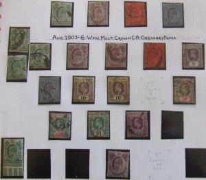 Straits EVII 1903 set to $2 mint & used