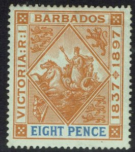 BARBADOS 1897 QV JUBILEE 8D