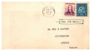 United States, Georgia, First Day Cover, Foreign Destinations