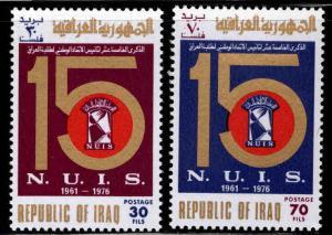 IRAQ Scott 792-793 MNH** Student Union set