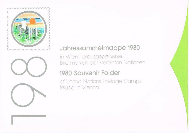 UN 1980 Trio of Empty Souvenir Folders (NO STAMPS)