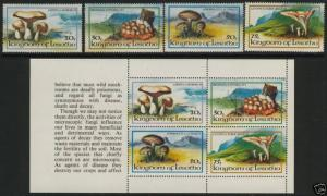 Lesotho 390-3a MNH Mushrooms