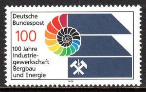 Germany 1588, MNH. Trade Union of the Mining and Power Industries, cent. 1989