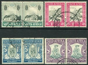 SOUTH AFRICA-1933-36 Voortrekker Set Sg 50-53 FINE USED V35324