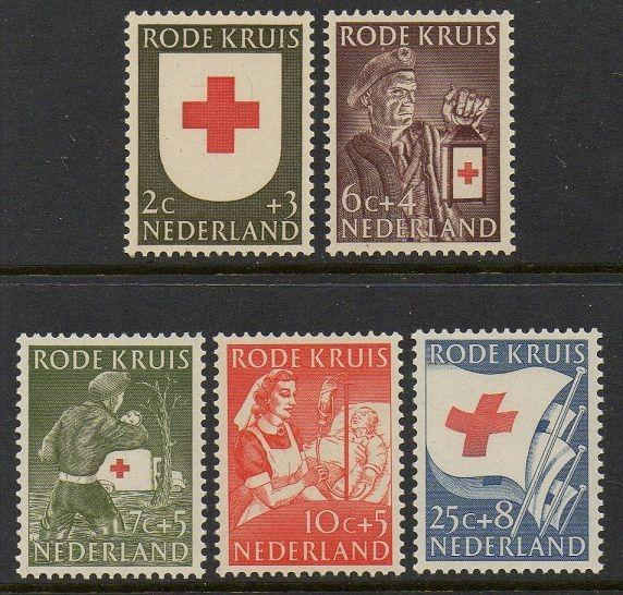 Netherlands 1953 Red Cross VF MNH (B254-8)