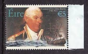 Ireland-Sc#1510-unused NH stamp from souvenir sheet-Ships-Mariners-2003-