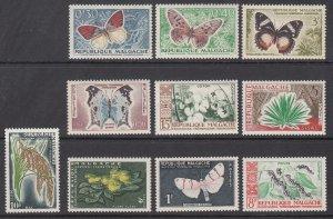 Madagascar 306-315 MNH VF