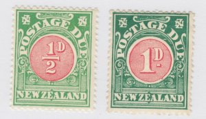 New Zealand Sc J12, J14, MLH. 1902 Postage Dues, 2 values to set, F-VF.