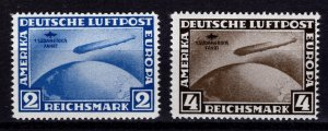 Germany reprint of 1930 Graf Zepplin First S. American Flight, Set [Mint]