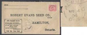 D5-Canada #7659 -  1c Edward on p/c-Prescott Cnty-Alfred,Ont