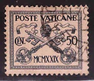 Vatican City Scott 6  Used 1929 stamp