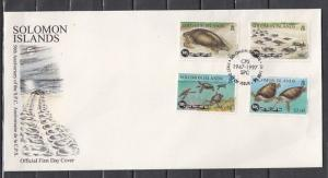 Solomon Is., Scott cat. 853-856. Turtles issue. First Day Cover. *