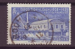 J16254 JLstamps 1939 france set of 1 used #388 water expo