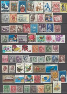 COLLECTION LOT # 43L AUSTRALIA 122 STAMPS CLEARANCE