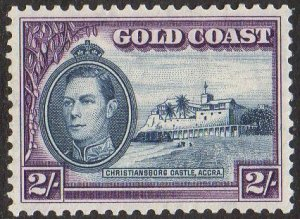 Gold Coast 1940 2/- blue and violet  MH