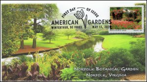 20-133, 2020, American Gardens, Pictorial Postmark, First Day Cover, Norfolk  Bo