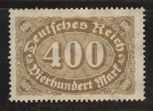 Germany Scott 202 MH* 1922 stamp with web wmk 126