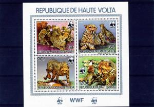 Upper Volta 1996 WWF WID CATS s/s Perforated Mint (NH)