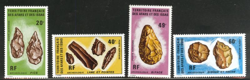 Afars and Issas Scott C77-80 MNH** 1973 Celt flint set