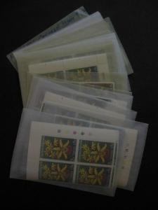 CAYMAN : 1971. Scott #287-90 Orchids. 58 Complete sets. All VF, MNH. Cat $571.00