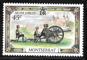 Montserrat 364: 45c Firing of Cannons at Tower of London, MH, VF