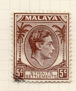 Malaya Straights Settlements 1937 Early Issue Fine Used 5c. 280849